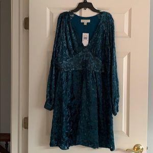Michael Kors Teal velvet Dress